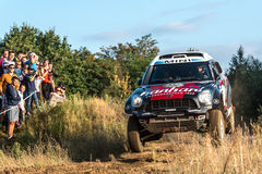 Runde Lotto Baja Polen acht von diesjährigem FIA World Cup für Cross Country sammelt Lizenzfreie Stockfotos