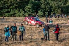 Runde Lotto Baja Polen acht von diesjährigem FIA World Cup für Cross Country sammelt Lizenzfreie Stockfotografie