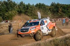 Runde Lotto Baja Polen acht von diesjährigem FIA World Cup für Cross Country sammelt Stockbild