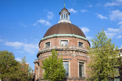 Runde lutherische Kirche in Amsterdam Lizenzfreie Stockfotografie