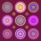 Runde Mandalaverzierungen Lizenzfreies Stockbild