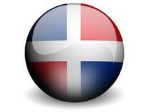 Runde Markierungsfahne von Dominikanischer Republik lizenzfreie abbildung