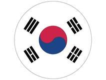 Runde Markierungsfahne von Südkorea lizenzfreie abbildung