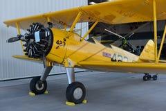 Runde Maschinenflugzeuge der Weinlese Lizenzfreie Stockfotografie