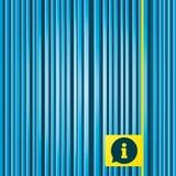 Runde metallische Knöpfe Informationssymbol Stockbilder