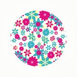 Runde mit Blumenform für Dekoration vektor abbildung