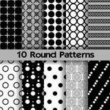 10 runde nahtlose Muster Lizenzfreie Abbildung