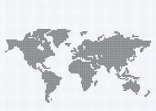 Runde Pixel-Weltkarte Lizenzfreies Stockbild
