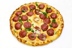 Runde Pizza mit Fleisch 6 Lizenzfreies Stockfoto