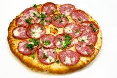 Runde Pizza mit Fleisch 8 Lizenzfreie Stockfotos