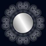 Runde Rosette der Vektorweinlese Stockfoto