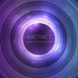 Runde Schablone mit abstraktem Technologiehintergrund vektor abbildung