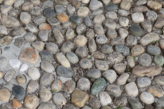 Runde Steine im Boden Stockfotografie