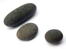 Runde strukturierte Steine Lizenzfreie Stockbilder