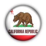 Runde Taste USA geben Markierungsfahne von Kalifornien an Lizenzfreie Stockfotos