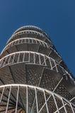 Runde Treppe des Eisens oben Stockfoto
