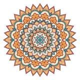 Runde Verzierungsfarbe der Mandala vektor abbildung