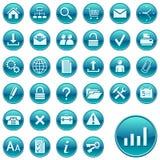Runde Web-Ikonen/-tasten Lizenzfreies Stockbild