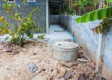 Runde Zementklärgrube für Festlichkeitsabwasserwasser Lizenzfreies Stockbild