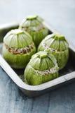 Runde Zucchini stockfoto
