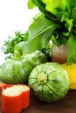 Runde Zucchinis Stockbilder