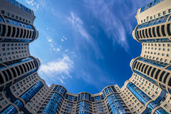 rundem Wohngebäude oben betrachten Lizenzfreies Stockfoto