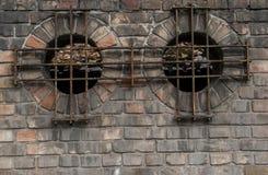 Runder Abstand in einer bricked Wand Lizenzfreie Stockbilder