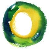 Runder Aquarellrahmen, Kreisformform Stockbild