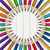 Runder Bleistiftrahmen Stockfoto