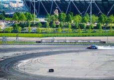 Runder britischer Antrieb 1-London GP Stockfotos