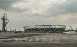Runder britischer Antrieb 1-London GP Stockfotografie