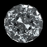 Runder Diamant - getrennt auf schwarzem Hintergrund Stockfoto