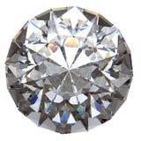 Runder Diamant von der Spitzenseite getrennt Stockbilder