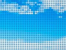 Runder Fliesehintergrund des abstrakten Himmels Lizenzfreie Stockfotografie