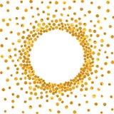 Runder Goldrahmen oder -grenze Stockfoto