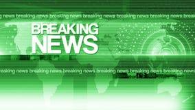 Runder Hintergrund 4K der letzten Nachrichten des abstrakten Kreises stock abbildung
