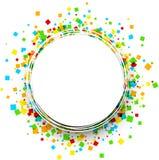 Runder Hintergrund mit Farbquadraten Lizenzfreies Stockfoto