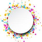 Runder Hintergrund mit Farbquadraten Stockfoto