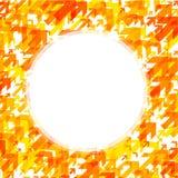 Runder Hintergrund mit orange Pfeilen Stockfotografie
