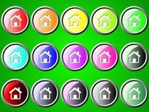 Runder icone mit Haus Lizenzfreies Stockfoto