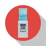 Runder Ikonenschatten des Wasserspenderausrüstungsbüros vektor abbildung
