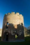 Runder Kontrollturm des Schlosses Stockfoto