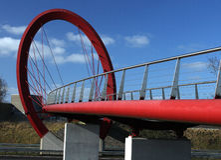 Runder Kreis als Fahrradbrücke Lizenzfreies Stockfoto
