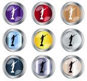 Runder Moroni Button stock abbildung