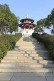 Runder Pavillon von datang furong Garten, luftgetrockneter Ziegelstein rgb Stockbild