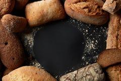Runder Rahmen des Brotes Lizenzfreie Stockbilder