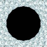 Runder Rahmen des Diamanten Lizenzfreie Stockfotos