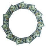 Runder Rahmen machte †‹â€ ‹vom mone Lizenzfreies Stockfoto