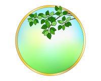 Runder Rahmen mit Blättern Stockfotografie