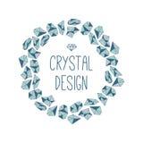 Runder Rahmen von Kristallen Stockfoto